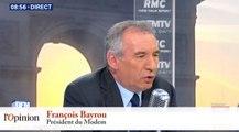 François Bayrou : «François Hollande est en situation d'être candidat, mais d'être élu, je ne le crois pas»