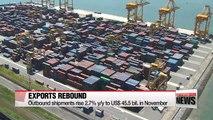 S. Korea's exports rebound in November