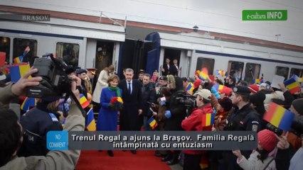 Trenul Regal a ajuns la Brasov, Familia Regala intampinata cu entuziasm