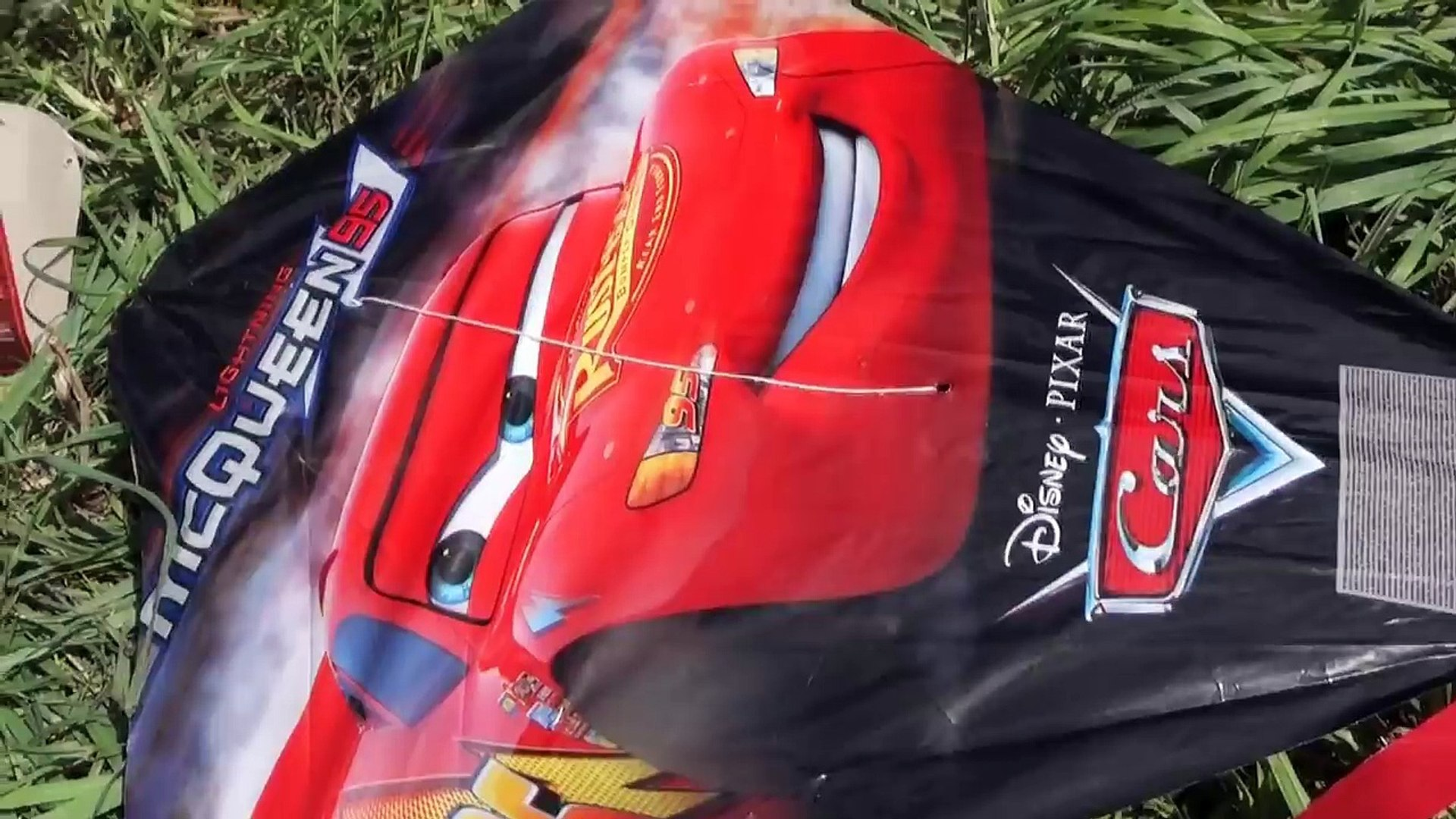 Kids playground outside with Kite Disney Cars Toys For Kids Family Fun Activity