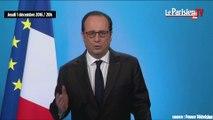 """François Hollande : """"J'ai décidé de ne pas être candidat à l'élection présidentielle"""""""