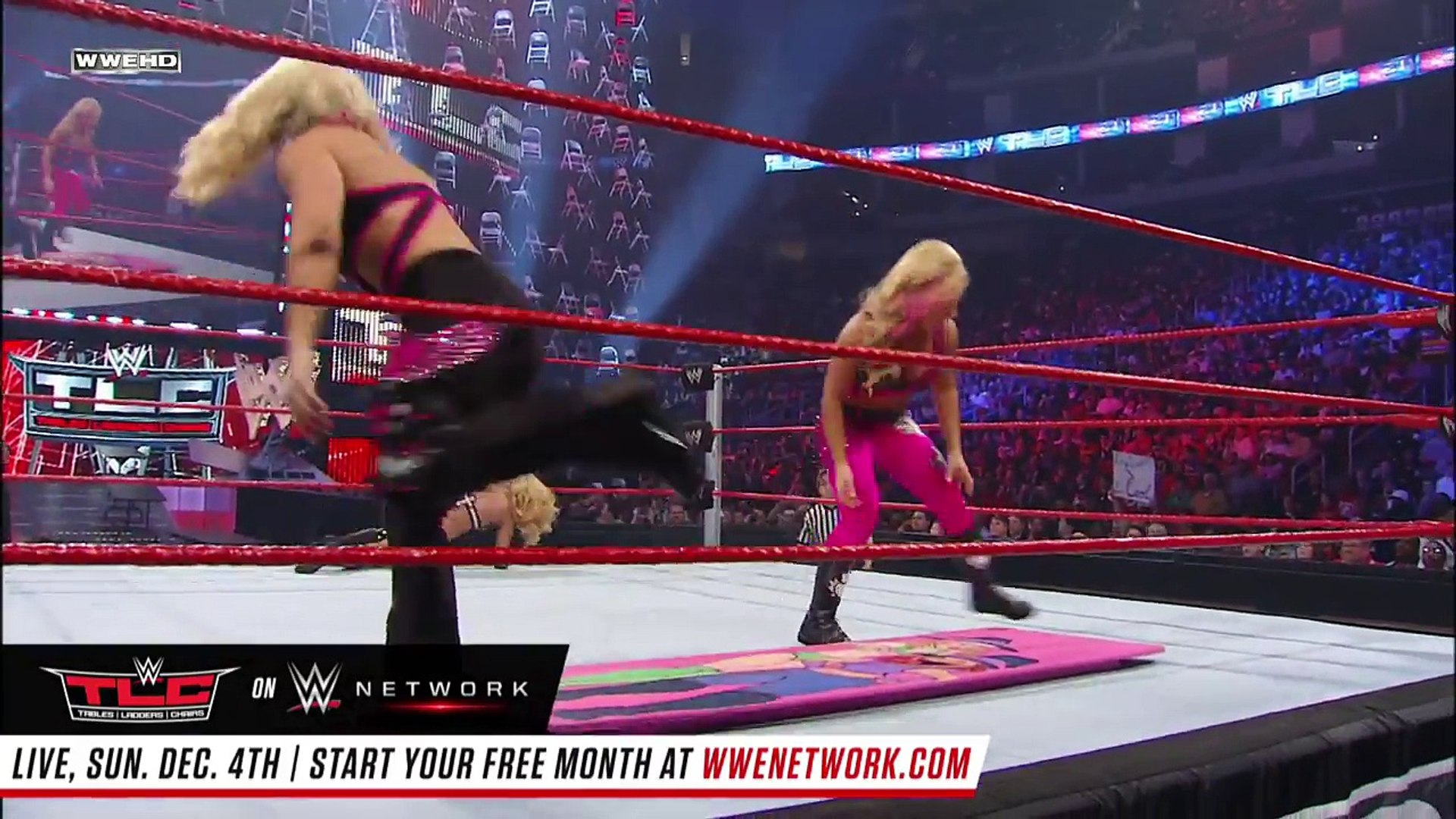 FULL MATCH — Beth Phoenix & Natalya vs. Lay-Cool - Tables Match: TLC 2010 on WWE Network