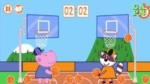 Hippo Peppa Baloncesto | Hippo Kids Basketball | Hippo Peppa Deporte juegos para los niños