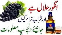 Angoor Halal Aur Sharab Haram Kun In Urdu انگور حلال اور شراب حرام کیوں