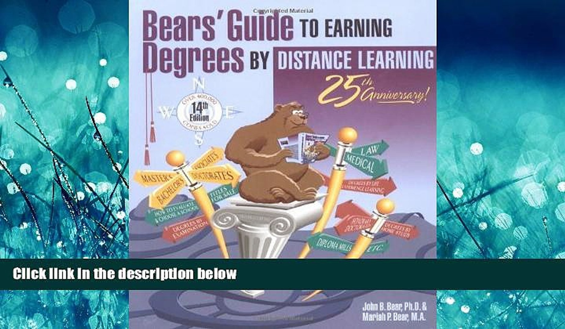 READ book Bears  Guide to Earning Degrees by Distance Learning John Bear BOOOK ONLINE
