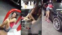 Un jeune femme droguée terrorise un homme qui fait son plein d'essence
