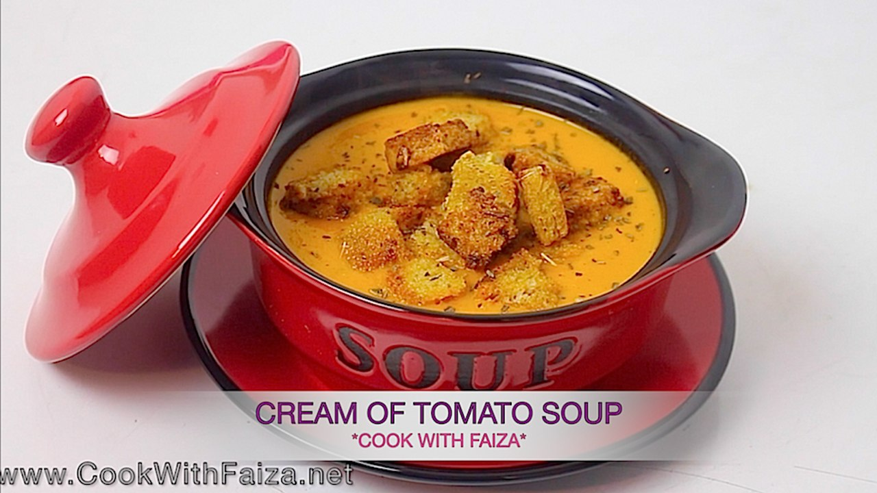 Cream Of Tomato Soup Cook With Faiza Video Dailymotion