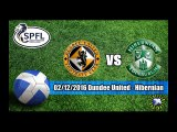 Dundee United vs Hibernian 1-0 Highlights Scottish Championship  02-12-2016