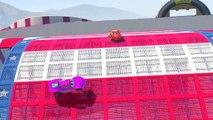 Spiderman cars 2 HULK Cartoon For Kids Lightning McQueen Cars McQueen Nursery Rhymes Kids FOR SONGS