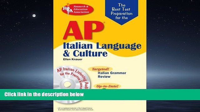 READ THE NEW BOOK AP Italian Language and Culture w/ Audio CDs (Advanced Placement (AP) Test