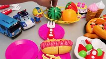 Learn Fruits English Names Toy Velcro Cutting Pizza Ice cream Play Doh Surprise Eggs Toys
