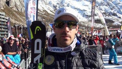 Réactions d'Adrien Théaux après son Top 5 en Descente à Val d'Isère