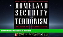 READ Homeland Security and Terrorism: Readings and Interpretations (The Mcgraw-Hill Homeland