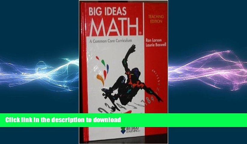 READ THE NEW BOOK Big Ideas Math RED a Common Core