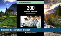 Read Book 200 Interview Questions You ll Most Likely Be Asked (Job Interview Questions Series)