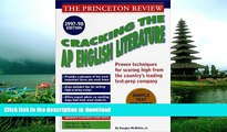 Pre Order Cracking the AP English Literature Exam, 1997-98 (Annual) Princeton Review On Book