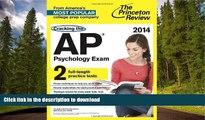 Pre Order Cracking the AP Psychology Exam, 2014 Edition (College Test Preparation) Princeton