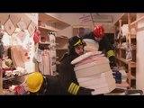 Norcia (PG) - Terremoto, recupero beni in negozio di Corso Sertorio (03.12.16)
