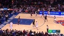 Mindaugas Kuzminskas Posterizes Cole Aldrich | Timberwolves vs Knick | 2016-17 NBA Season