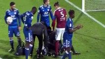 Ligue 1 2016/17:  J16 - Metz - Lyon suspendido por un petardo a Anthony Lopes, arquero del Lyon