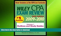 Pre Order Wiley CPA Examination Review, Outlines and Study Guides (Volume 1) Patrick R. Delaney On