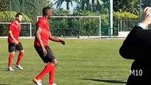Usain Bolt playing football Saint-Jean-Cap-Ferrat dans les Alpes-Maritimes 02-12-2016