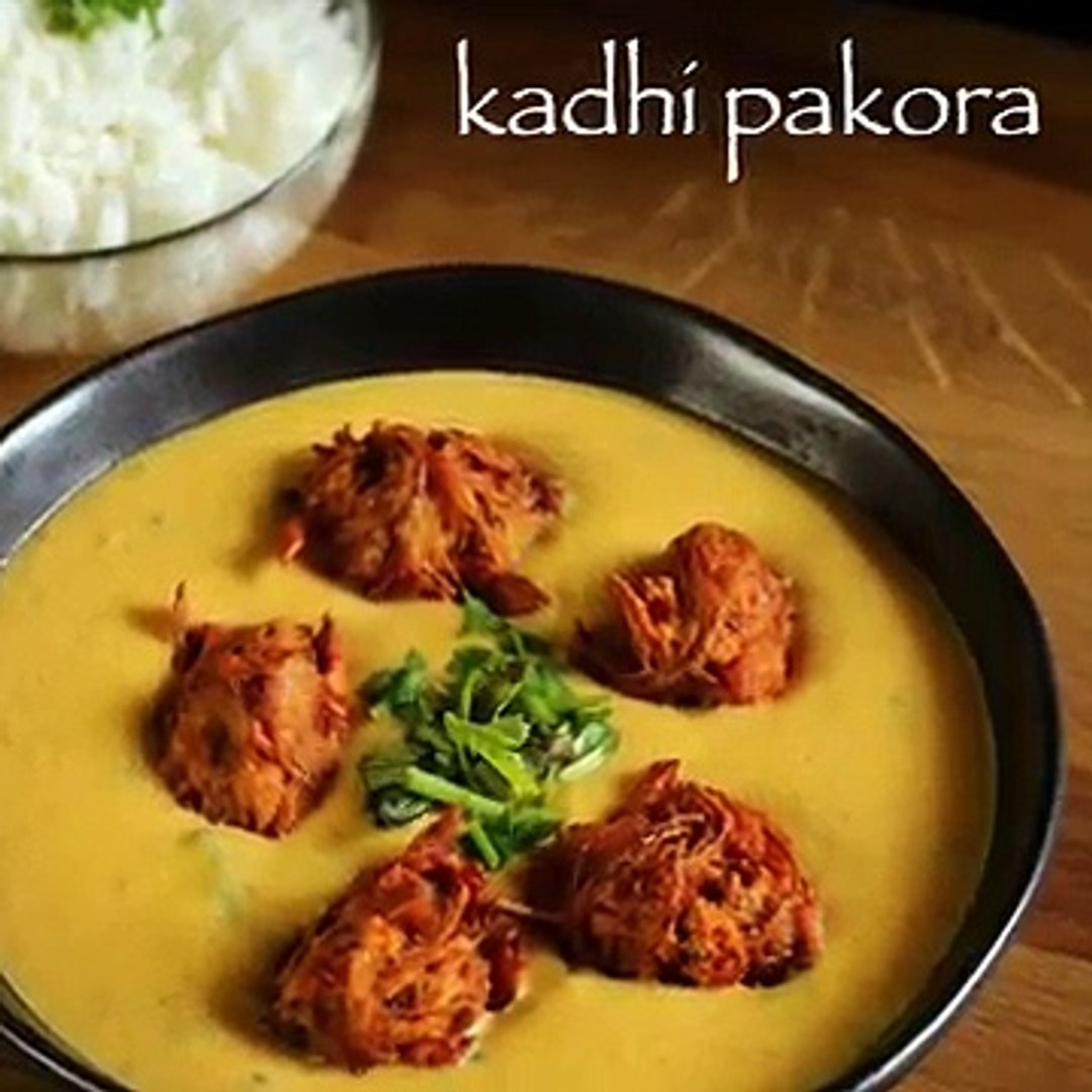 kadhi recipe _ punjabi kadhi recipe _ kadhi pakora recipe _ kadi pakoda