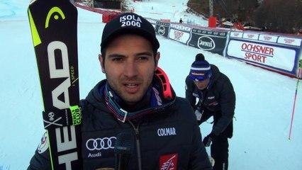 Réactions de Mathieu Faivre après sa victoire sur le Géant de Val d'Isère
