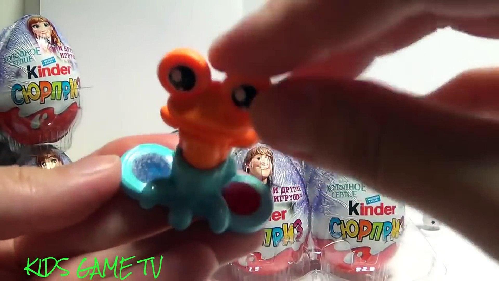 36 Oeufs Surprise, kinder surprise princesse barbie, Frozen and Many Toys - Partie 1