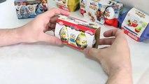 11 X Surprise Eggs Kinder Joy Merendero Minions Frozen Ice Age Disney Toys Chocolate Eggs Sorpresa