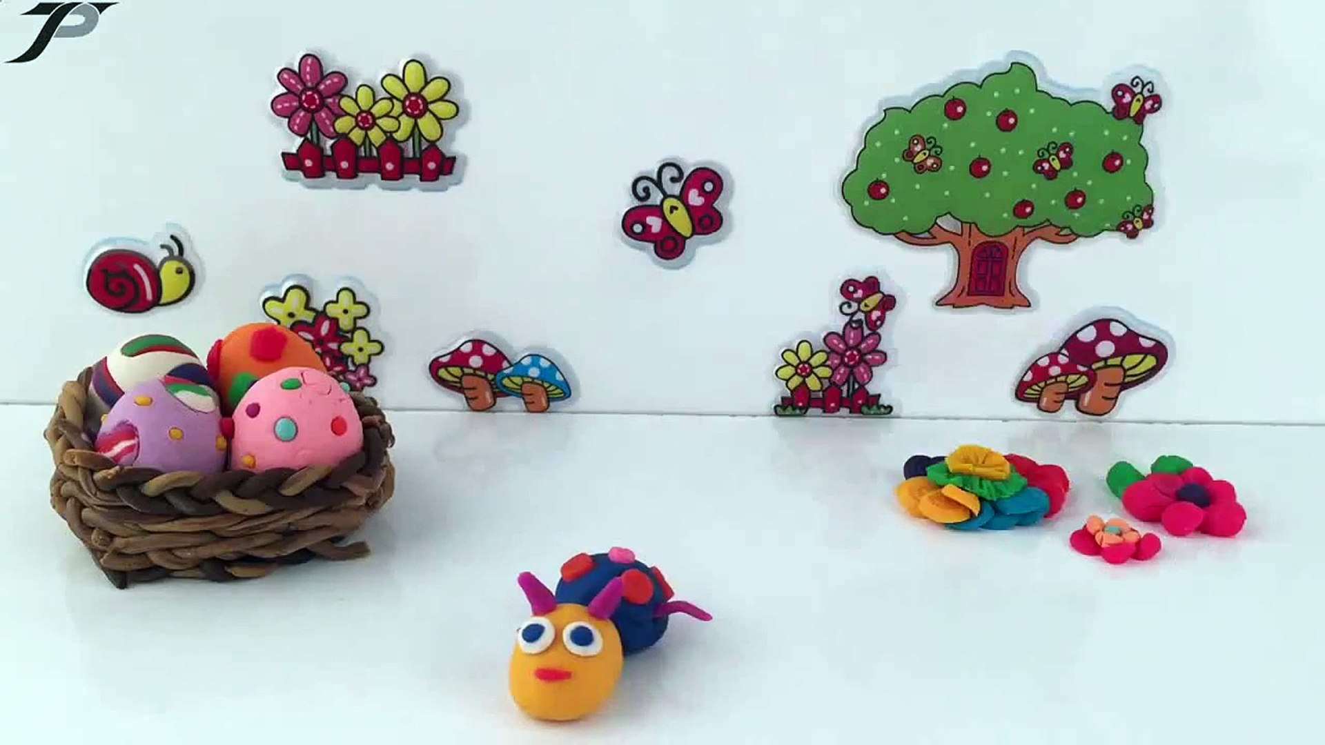 TRIEUPHAM KIDS - Play Doh Kids Fun Crafts, Animals Playdough Learning Activities CATERPILLAR