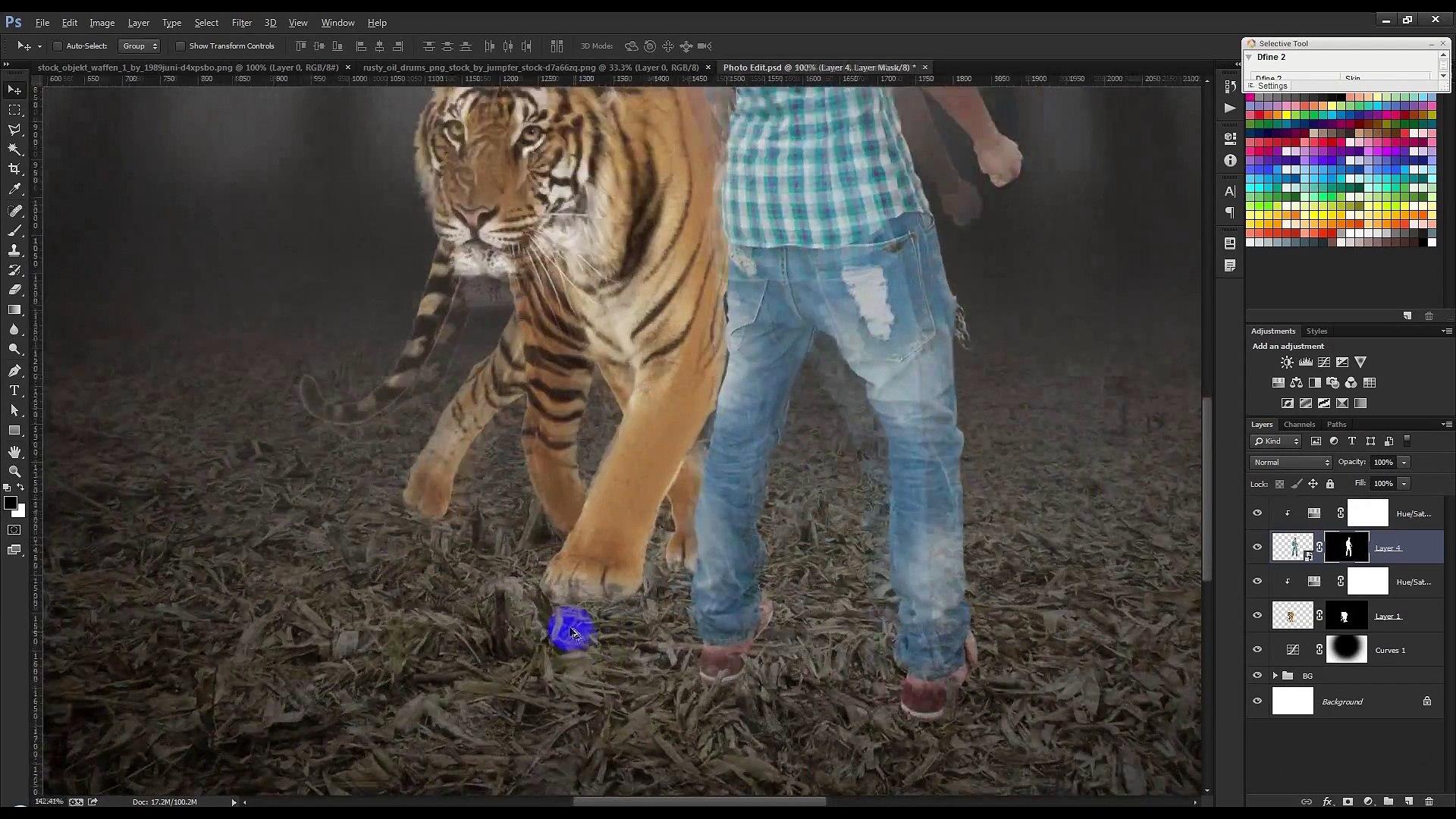Photoshop tutorials Quick Selection