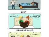10 illustrations qui vous montrent les différences entre un ami et un meilleur ami !