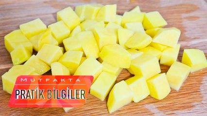Patates Nasıl Kesilir?   Patatesler Nasıl Küp Küp Doğranır?
