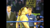 John Cena & Rob Van Dam & Charlie Haas With Miss Jackie vs Booker T & Rene Dupree & Luther Reigns SmackDown 08.12.2004