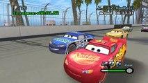 Cars Rayo Mcqueen gana la Nascar!!! Juego de la Pelicula Disney Cars Rayo Mcqueen Rey Chick Hicks