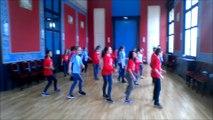 Concours Flashmob UNSS championnats du Monde de Handball 2017 Collège Calypso Montreuil-bellay