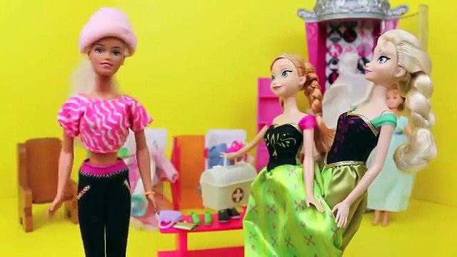 Frozen Elsa amp Anna Clothes Shopping with BARBIE Barbie Parody Closet Sitting Part 3 DisneyCarToys