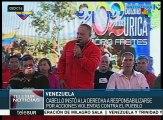 Cabello insta a la derecha a responsabilizarse por acciones violentas