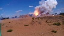 Un tir de missile façon Russe... Même les rockets sont bourrées!