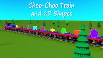 Shapes for kids kindergarten toddlers preschoolers. Shape train. Choo-Choo and 2D shapes. Cartoon