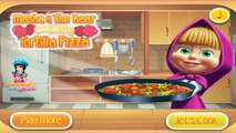 Masha Cooking Tortilla Pizza | Best Game for Little Girls - Baby Games To Play