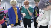[ENG SUB] [BANGTAN BOMB] BTS checking out the interview script after camera rehearsal @ Ingigayo