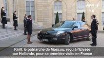 Hollande reçoit le patriarche de Moscou Kirill à l'Elysée