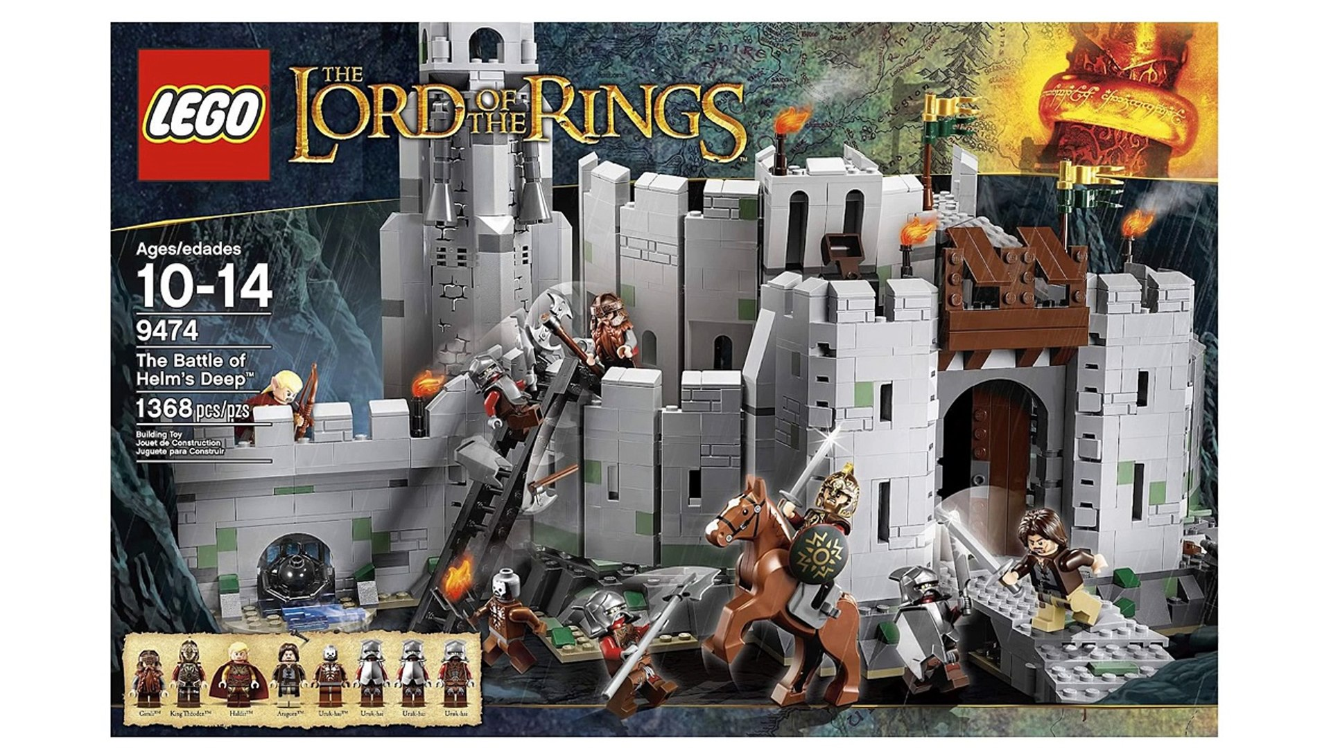 Lego The Lord of the Rings 9474 The Battle of Helms Deep - Lego Speed build