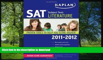 Hardcover Kaplan SAT Subject Test Literature 2011-2012 (Kaplan SAT Subject Tests: Literature)