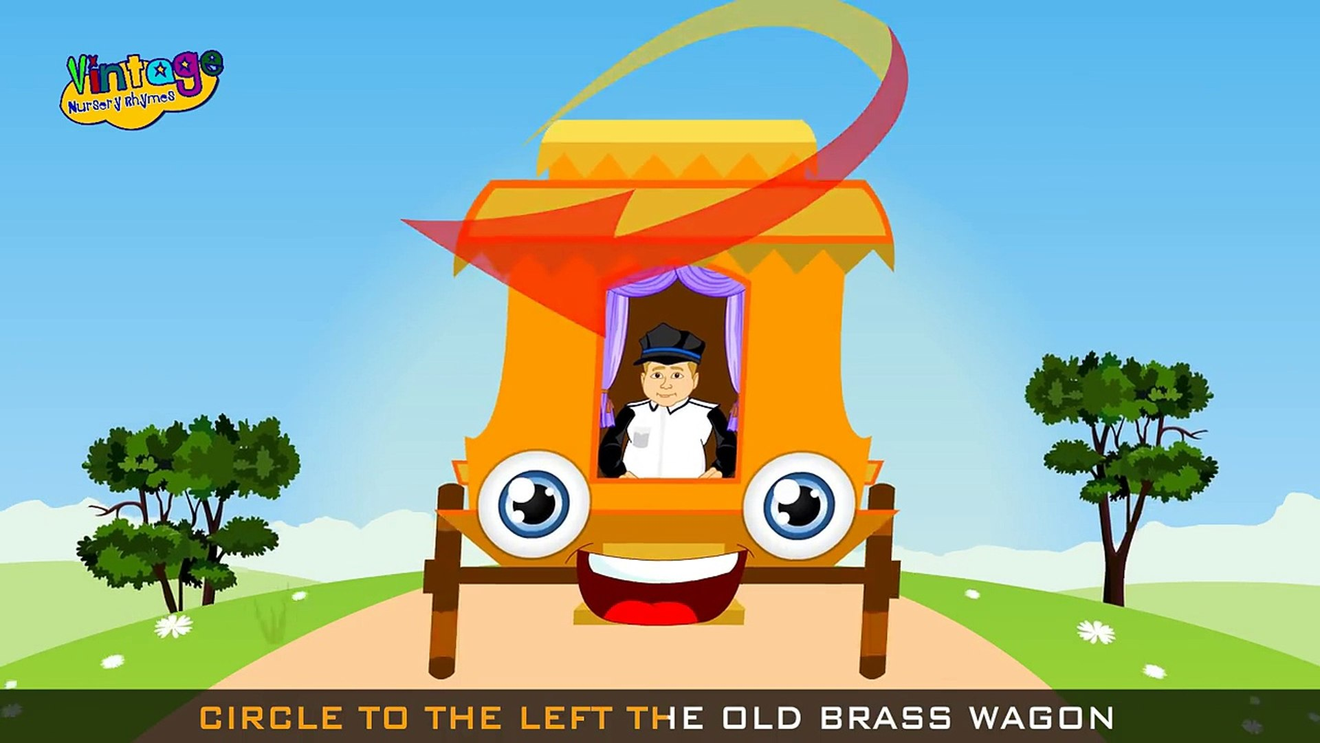 Old Brass Wagon Song | Childrens Nursery Rhyme With Lyrics | English Nursery Rhymes