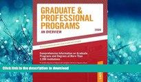 Hardcover Grad Guides Book 1:  Grad/Prof Progs Overvw 2009 (Peterson s Graduate   Professional