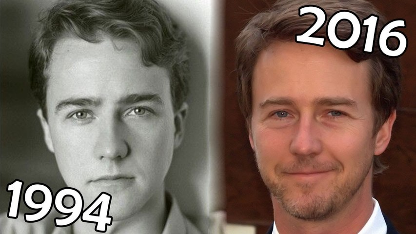 Edward Norton (1994-2016) all movies list from 1994! How much has changed? Before and After! Fight Club, American History X, The Illusionist, Red Dragon, Birdman, Primal Fear | Godialy.com
