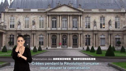 Présentation générale de l'institution Archives nationales